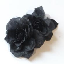 Large Black Double Rose